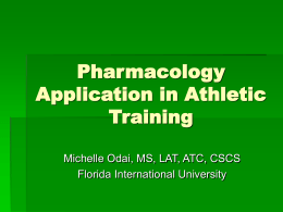 Pharmacology Application in Athletic Training