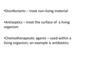 Lab 9 Antiseptics and disinfectants