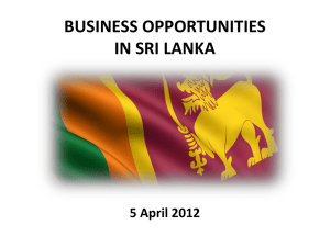 DOING BUSINESS IN SRI LANKA