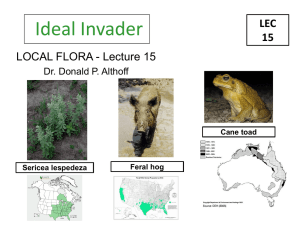 Invasive Species Lec 01 Bio 48803 Althoff
