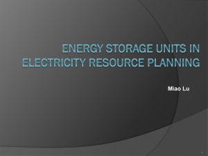 Usage of Energy Storage Systems in Electrical Resource