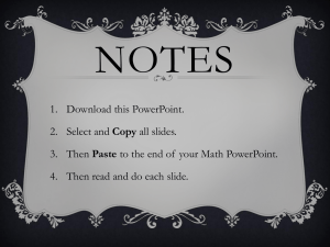 Notes for end of Math PowerPoint