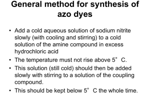General method for synthesis of azo dyes