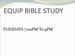 equip bible study - West London Church Of God