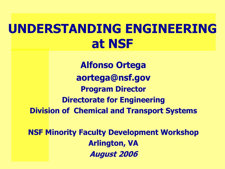 Understanding Engineering at NSF