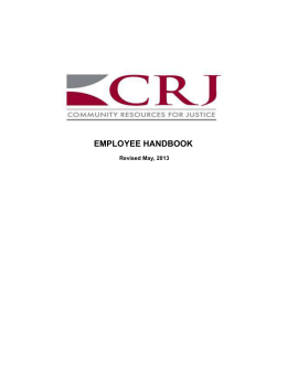 employee handbook - Community Resources for Justice