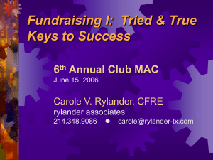 Four Tried & True Keys to Fundraising Success