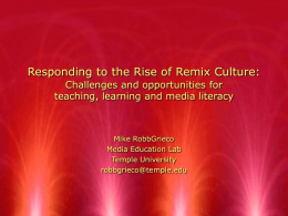 Rise of Remix Culture