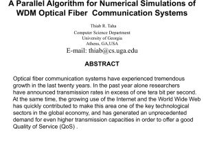 A Parallel Algorithm for Numerical Simulation of