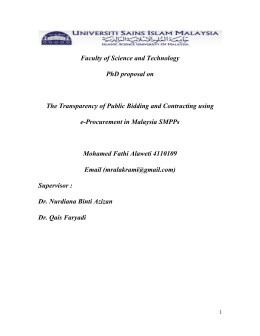 Faculty of Science and Technology PhD proposal on The