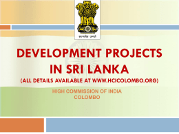 development projects in sri lanka - Consulate General of India, Jaffna