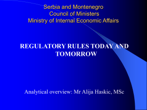 Serbia and Montenegro Council of Ministers Ministry of Internal