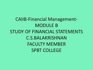 Study of Financial Statements - Module B