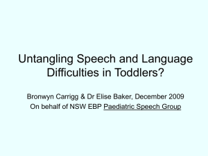Untangling Speech and Language Difficulties in