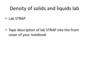 Density of solids and liquids lab