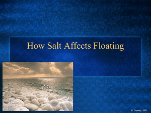 How Salt Affects Floating