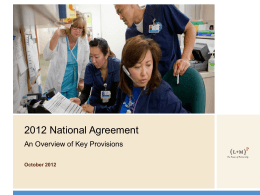 Strategy 2012 National Agreement Summary Provisions