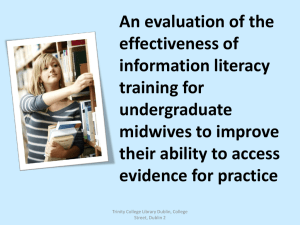 An evaluation of the effectiveness of information literacy