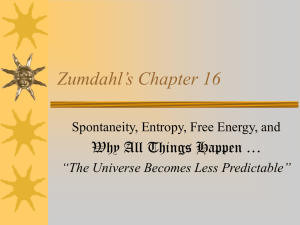 Zumdahl's Chapter 16 - The University of Texas at Dallas