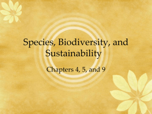 Species, Biodiversity, and Sustainability