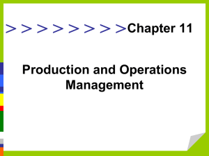 Production and Operations Management Chapter 11