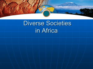 Global Studies Africa Diverse Societies in Africa