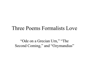 """Ode on a Grecian Urn,"" ""The Second Coming,"""