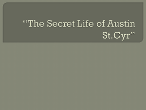 The secret life of Austin St.cyr