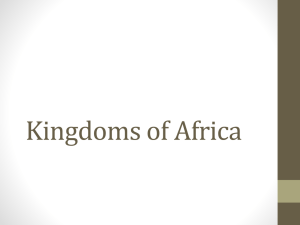 African Kingdoms PPT