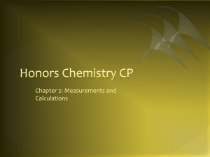 Honors Chemistry CP