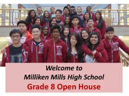 Milliken Mills Grade 8 Parents' Night December 2015