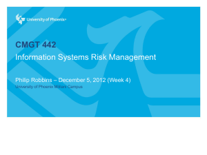 Information Systems Security Management