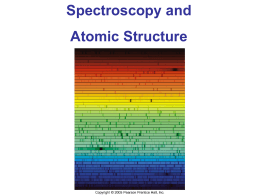Spectra and Atomic Structure