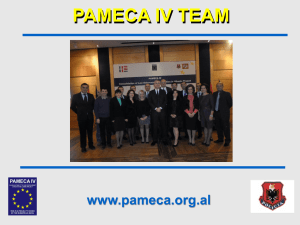 Pameca IV presentation in Stockholm Conference