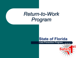 What is a RTW Program? - Florida Department of Financial Services