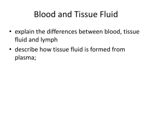 Blood and Tissue Fluid