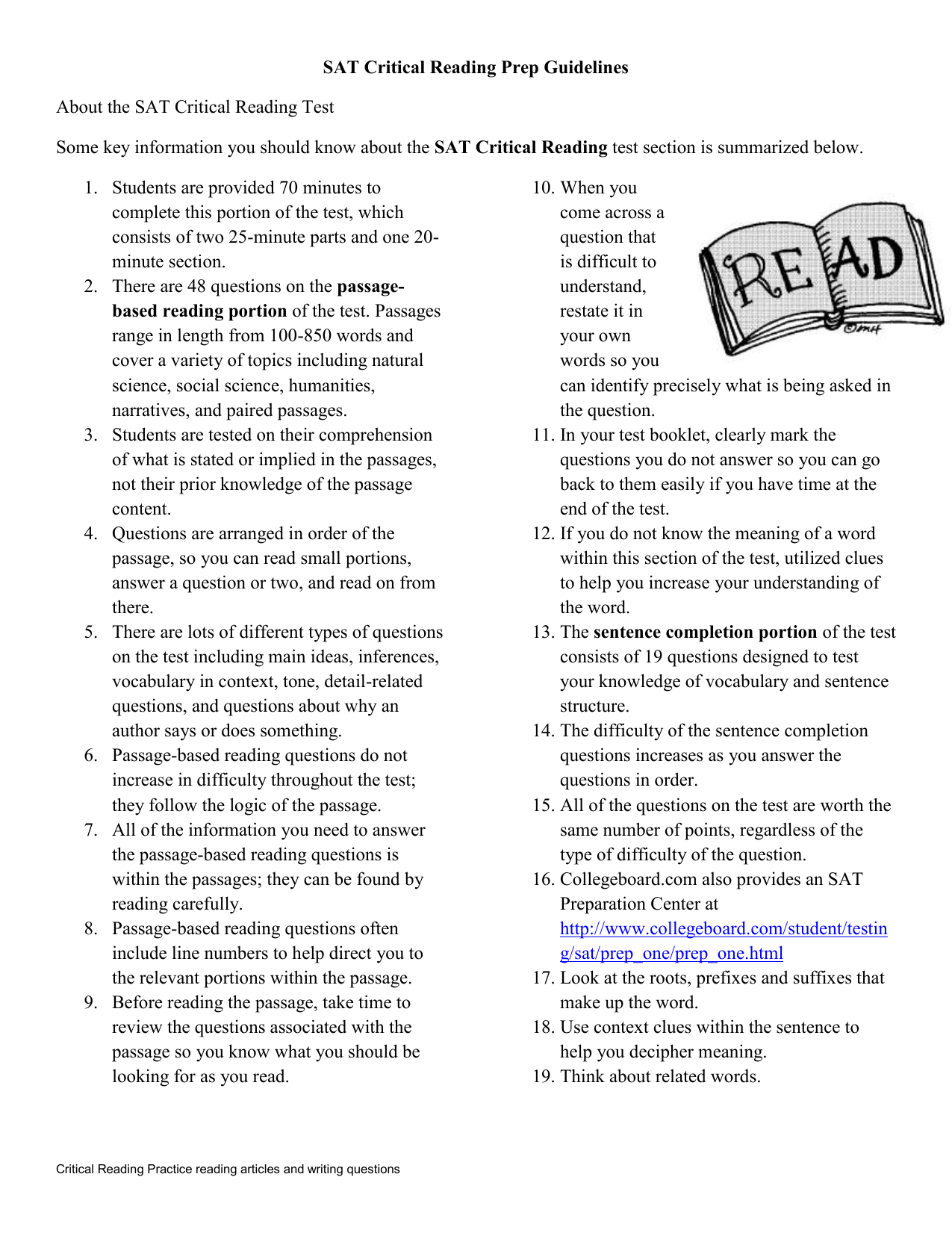 - Critical Reading Practice Reading Articles And Writing Questions