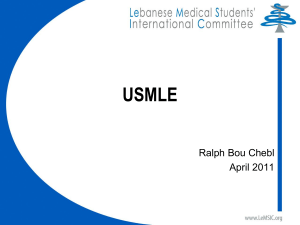 An outline for the USMLE Step 1