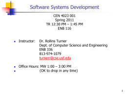 Software Systems Development Syllabus