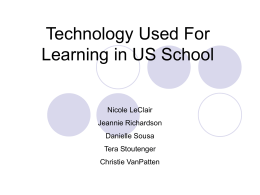 Technology Used For Learning in US School