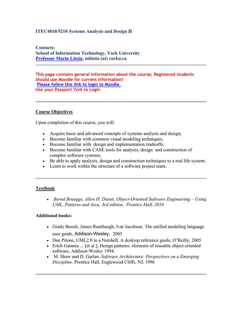 ITEC 4010 3 0M Course Outline