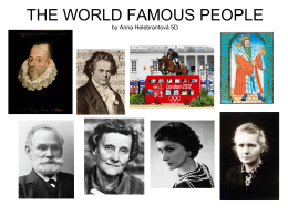 THE PROJECT OF WORLD FAMOUS PEOPLE