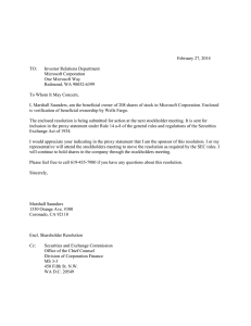 February 27, 2014 TO: Investor Relations Department Microsoft