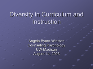 Critical Multicultural Pedagogy: Diversity in Curriculum and Instruction