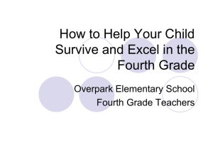 How to Help Your Child Survive and Excel in the Third Grade
