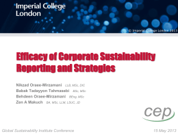 Efficacy of Corporate Sustainability Reporting and
