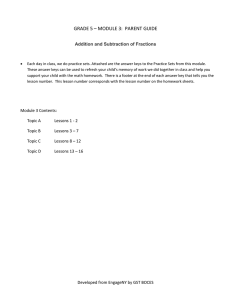 Math Module 3 Grade 5 Parent Guide