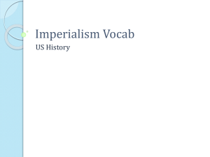 Imperialism Vocab
