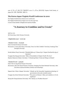 The Korea-Japan Virginia Woolf Conference in 2010