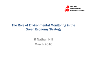 The Role of Environmental Monitoring in the Green Economy Strategy